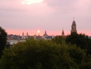 Výhled na město z Castle hill