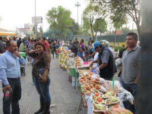 Stánky s jídlem u Chapultepec
